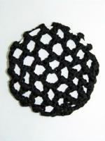 BLACK CROCHET BUN NET